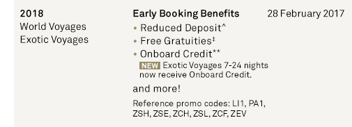 Early Booking Benefits