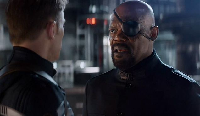 Image result for captain america the winter soldier nick fury