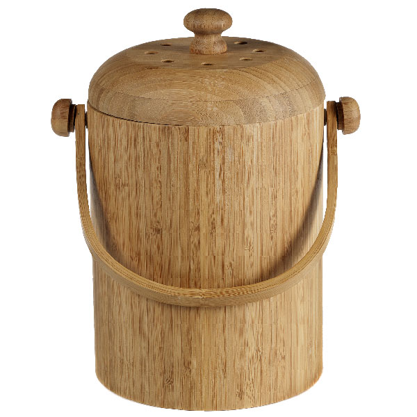 kitchen compost container dash bamboo pail the store q a