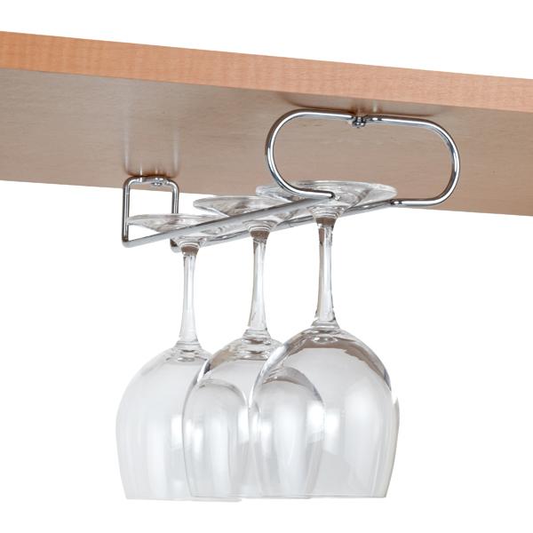 chrome wine glass holders