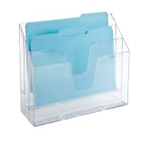Clear 3-Section Vertical File | The Container Store