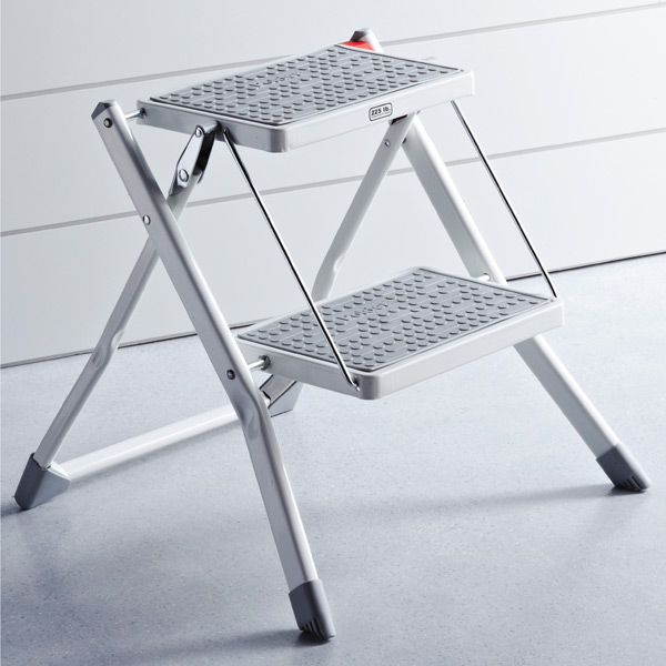 folding kitchen step stool how to plan a remodel polder slim | the container store