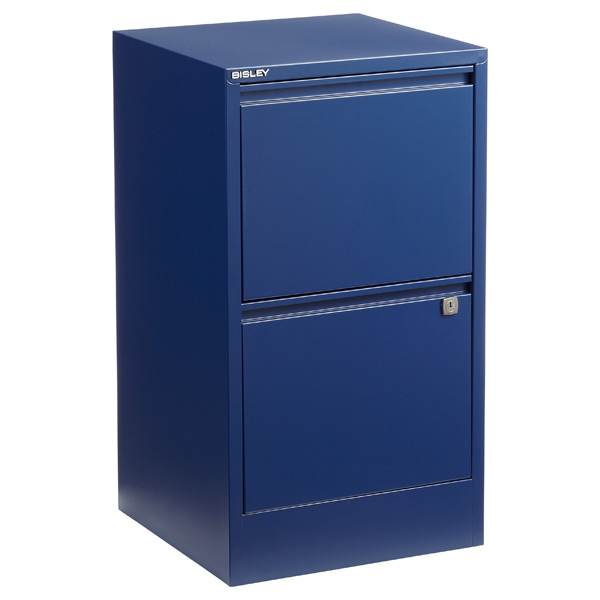 Bisley Oxford Blue 2  3Drawer Locking Filing Cabinets  The Container Store