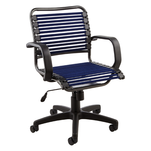 Navy Flat Bungee Office Chair with Arms  The Container Store