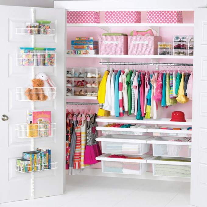 White elfa decor Girl's Reach-In Closet