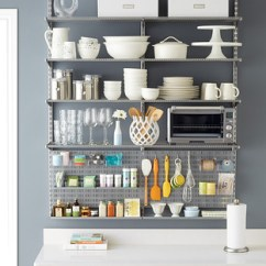 Kitchen Pantry Ideas Do It Yourself Remodel The Container Store Platinum Elfa Utility Shelving