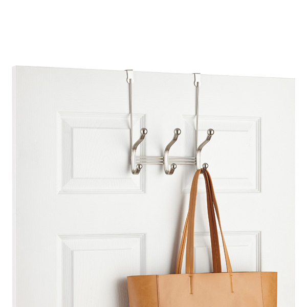 InterDesign York Over the Door Coat Hat Rack The