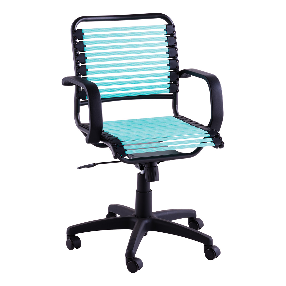 Turquoise Flat Bungee Office Chair with Arms  The Container Store