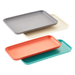Kitchen Tray Wall Mount Faucet With Sprayer The Container Store Multi Color Bamboo Serving Trays