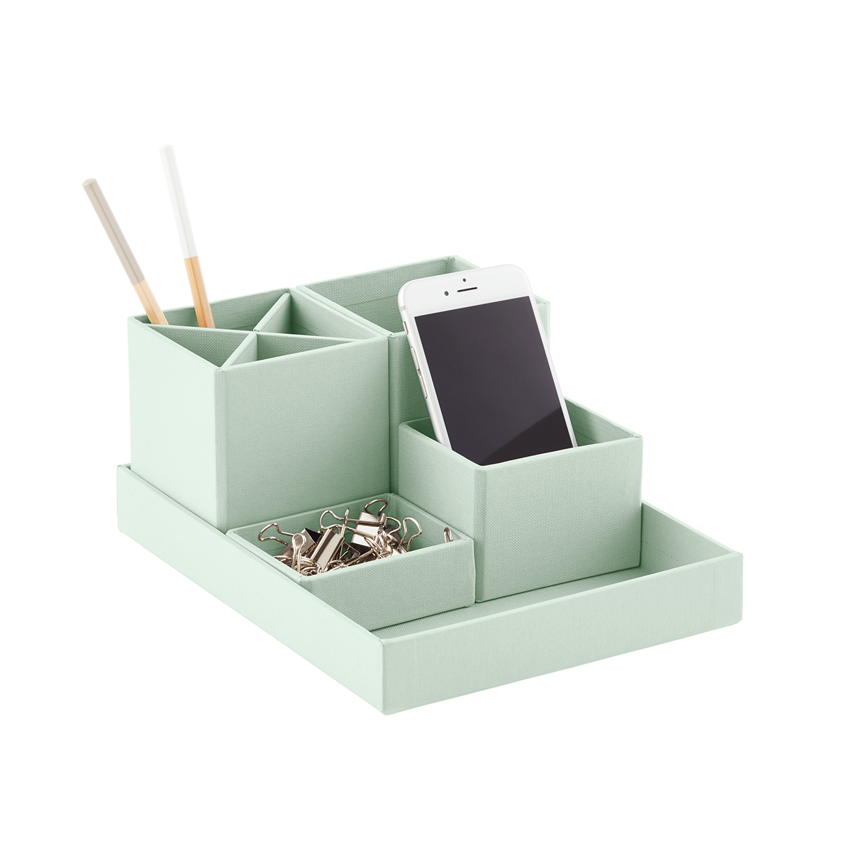 Bigso Mint Stockholm Desktop Organizer  The Container Store