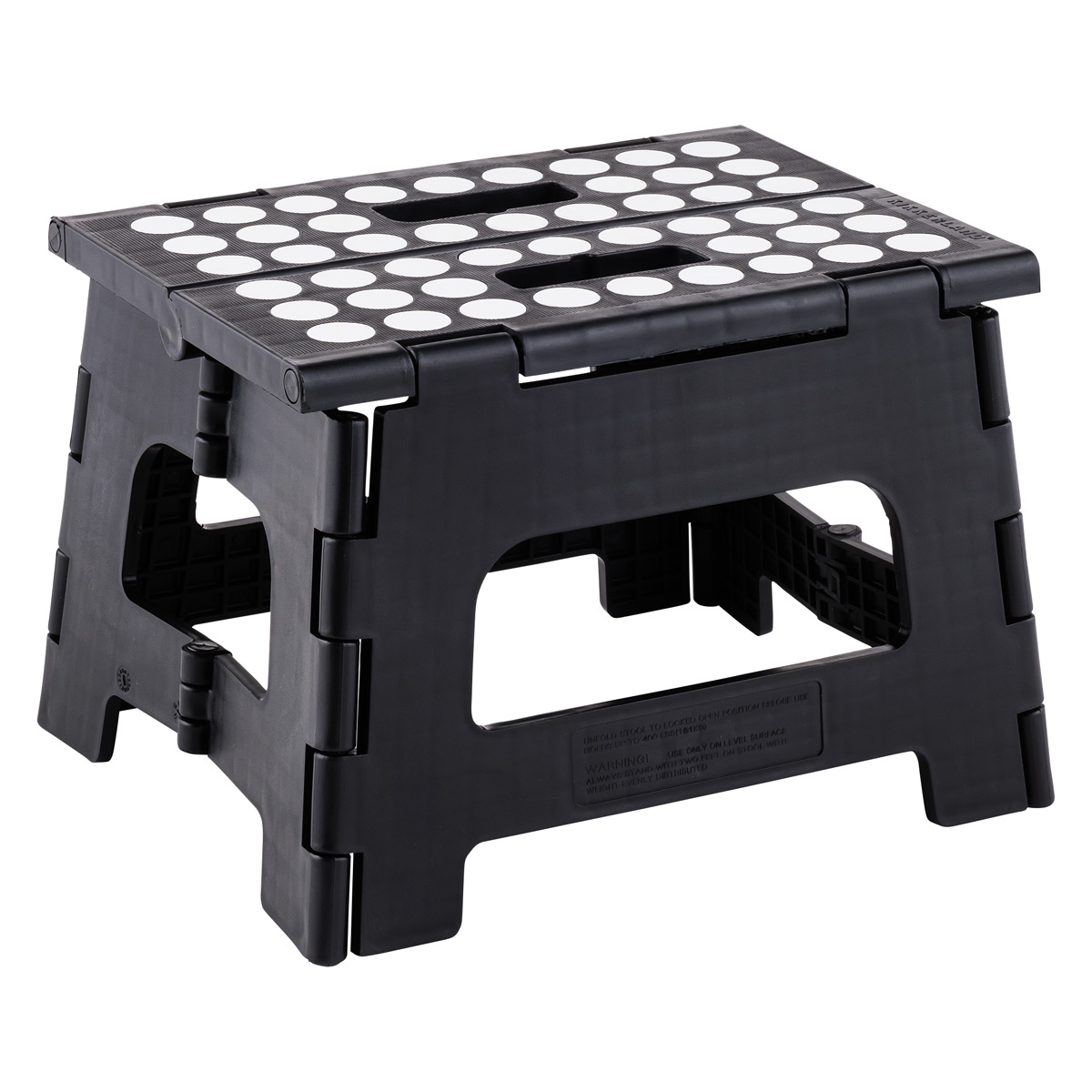 Folding Step Stool - Black Easy Container Store