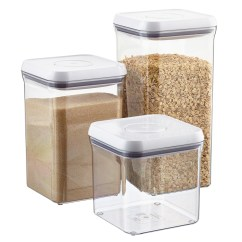 Canisters Kitchen Oak And White Table Canister Sets Glass The Oxo Good Grips 6 Square Pop