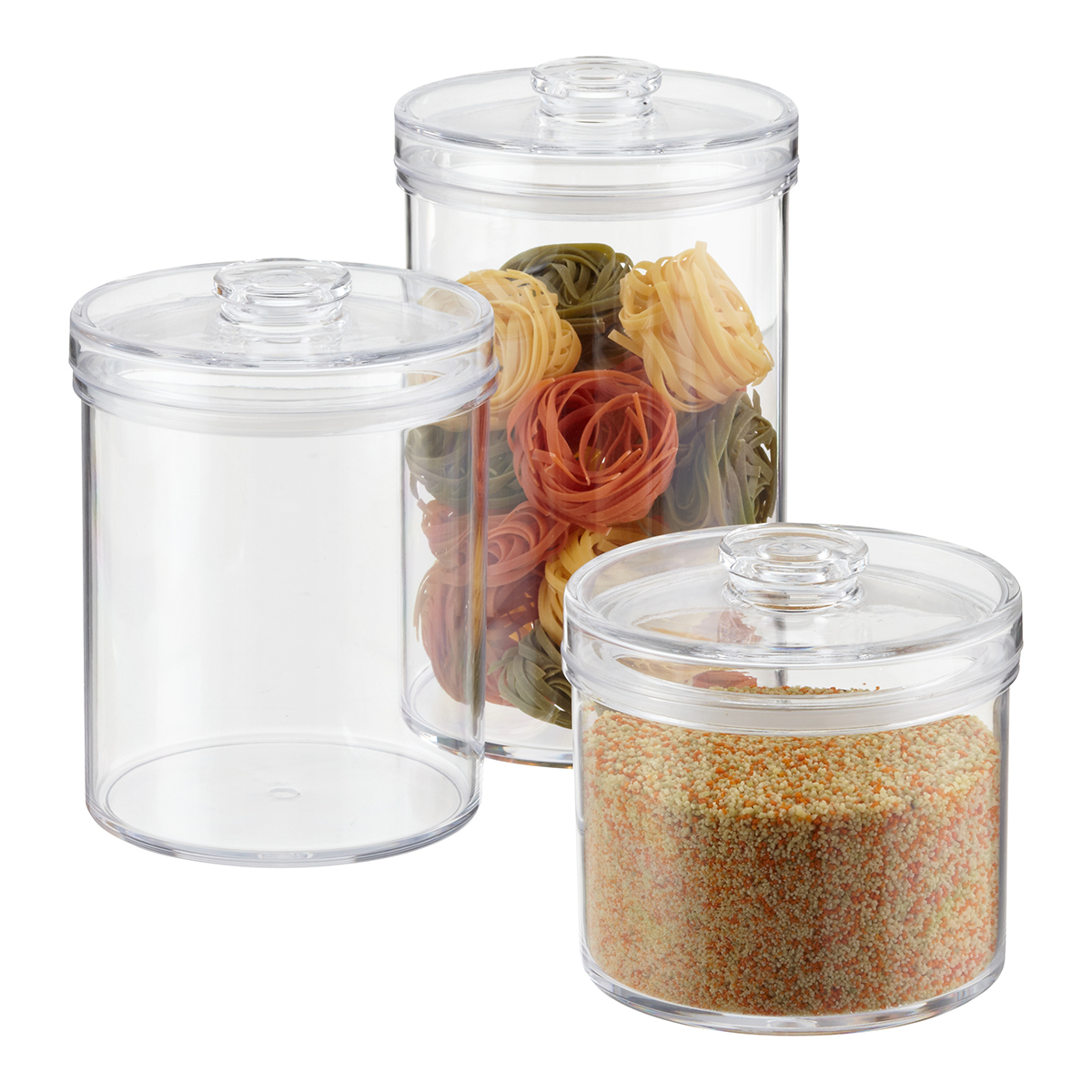 clear kitchen canisters remodel app acrylic round the