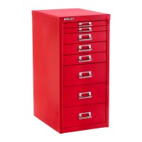 Bisley Red 8-Drawer Collection Cabinet | The Container Store