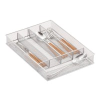 Silver Mesh Cutlery Trays | The Container Store