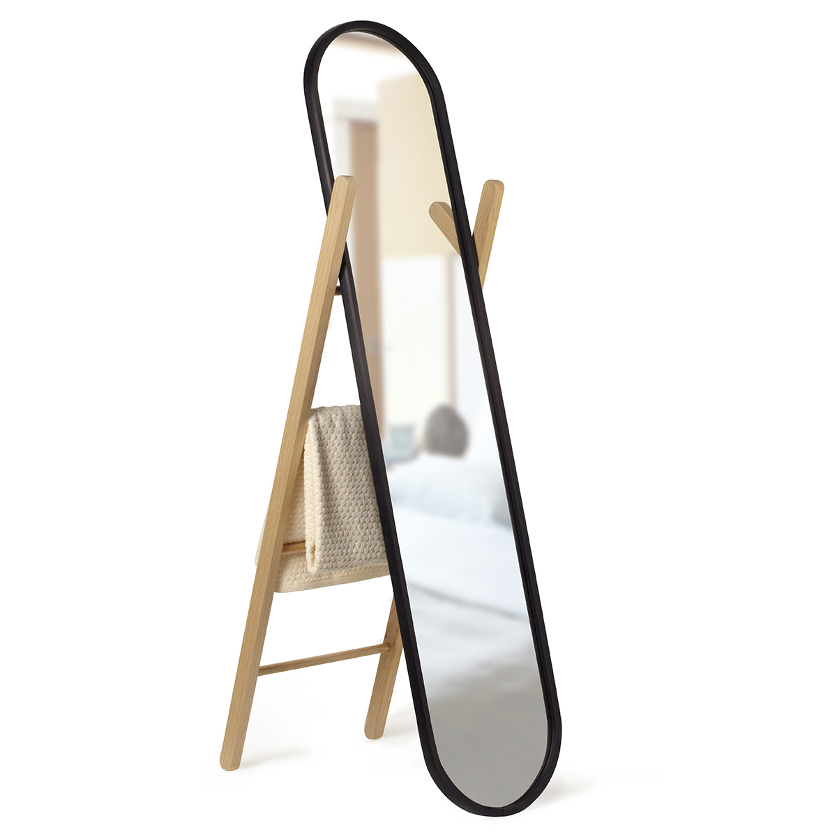 Umbra Hub FullLength Floor Mirror  The Container Store