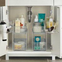 Silver 2-Drawer Mesh Organizer | The Container Store