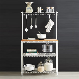 kitchen bakers rack decorative trash cans baker racks intermetro s the container store