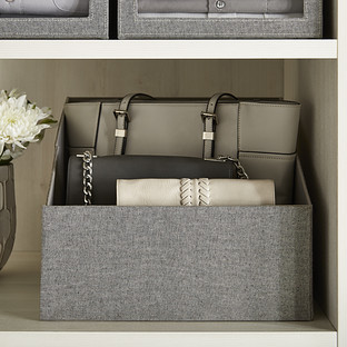 Grey Purse Storage Bin  The Container Store