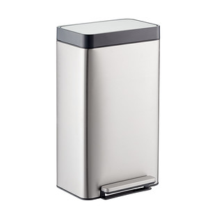 stainless steel kitchen trash can remodeling software the container store kohler 8 gal loft step