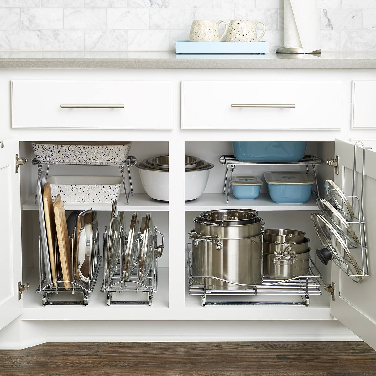 Lower Cabinet Organization Starter Kit The Container Store