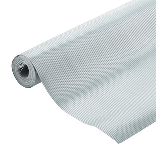 kitchen shelf liners pos display system liner the container store cool grey plast o mat ribbed