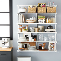 metal kitchen shelves mini light pendant for island pantry shelving shelf systems elfa classic 4 open