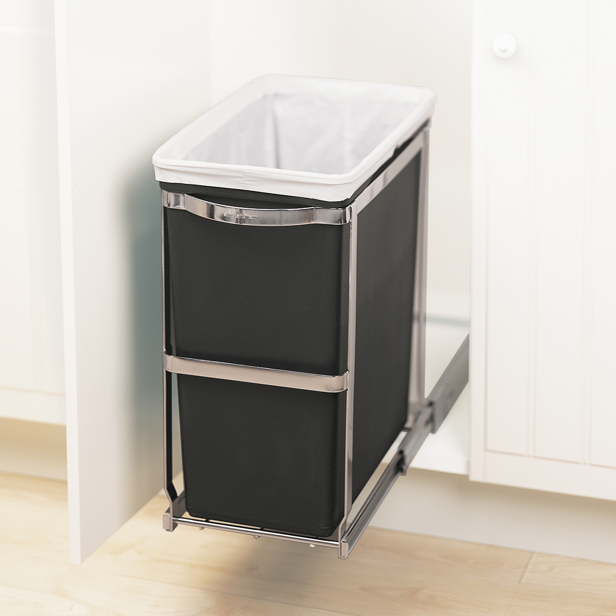 pull out trash cans the container store