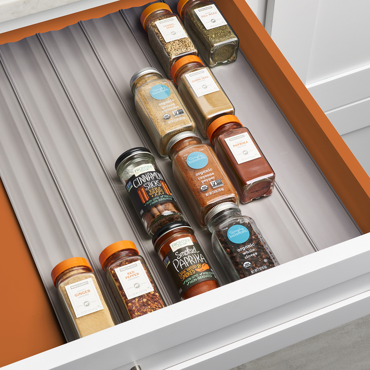 spice drawer inserts the container store