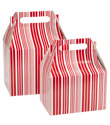 Our Signature Red & White Stripes Gable Gift Boxes
