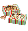 Holiday Stripe Rectangular Cookie Boxes Kit