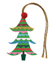 Christmas Tree with Pom Pom Gift Tags