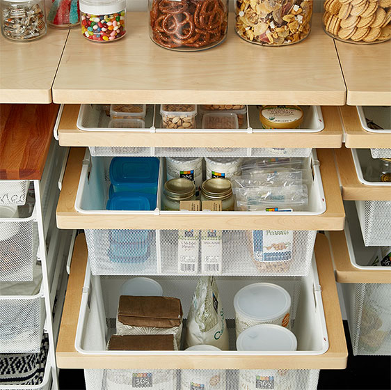 kitchen pantries cushioned floor mats pantry shelving ideas designs for shelves birch elfa decor and mesh drawers