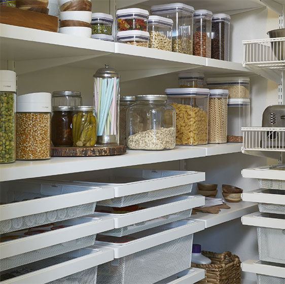 kitchen pantries sink size pantry shelving ideas designs for shelves white elfa decor with mesh drawers and shelf baskets