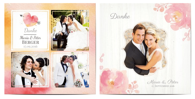 Danksagung Hochzeit Texte  Ideen fr Dankeskarten