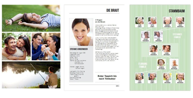 Vorlagen fr die Hochzeitszeitung