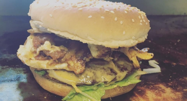 Burger from Daddy's Burger Van in Leicester