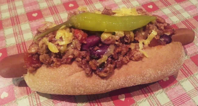 Vegan chilli dog from The Old Hardware Shop in liverpool