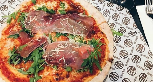 two-pizzas-and-drinks-from-wildwood-restuarant-nottingham
