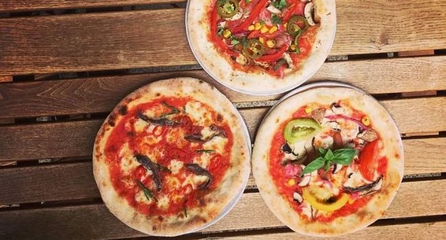 Three pizzas from Tapped Leeds