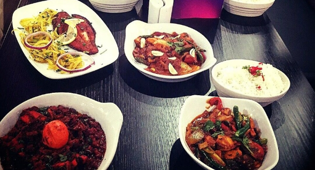 Dishes from Purple Olive in Liverpool