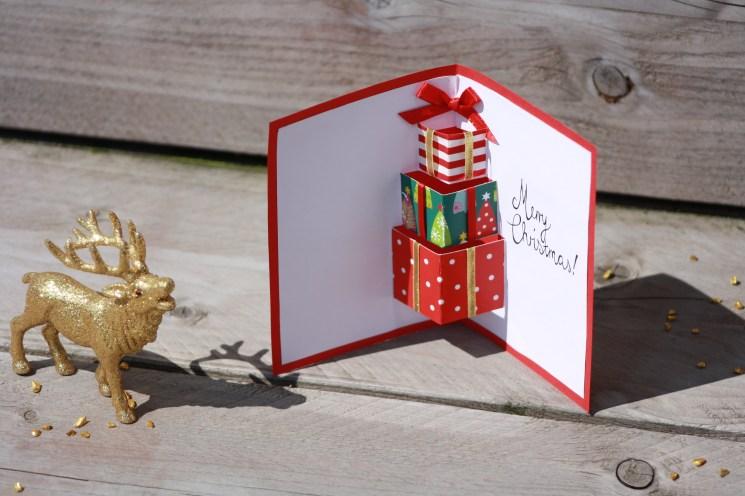 Weihnachtskarte mit Elchmotiv als Geldgeschenk auf
