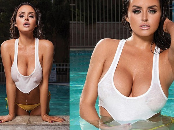 Abigail Ratchford Gets Wet And Sexy With Pool Toys  Playboy