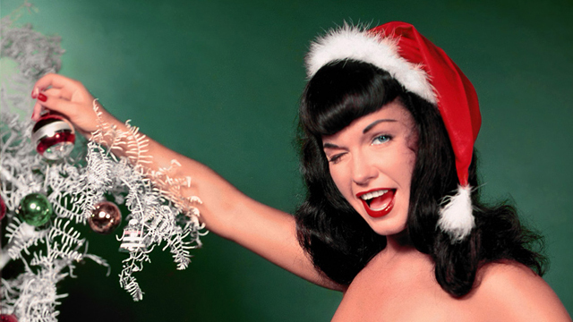 Image result for santa hat bettie page