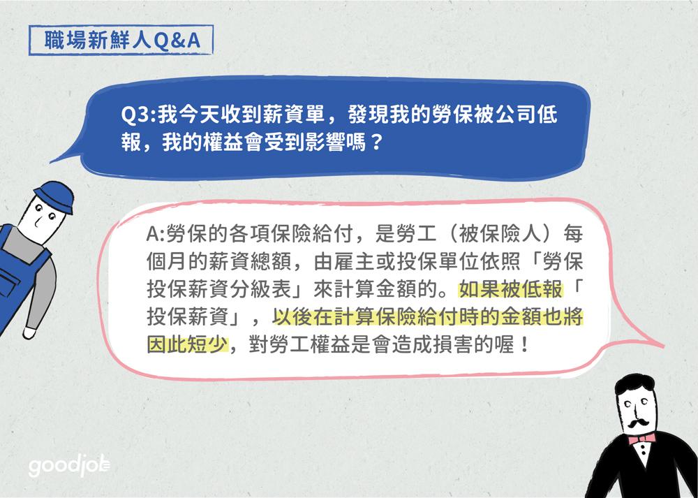 勞工保險 ——3個勞保關鍵字與5個職場新鮮人Q&A   GoodJob 職場透明化運動