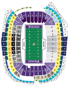 Minnesota vikings seating chart at us bank stadium in minneapolis mn also rh pslsource