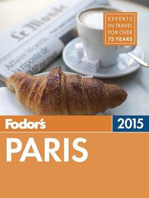Cover of Fodor's Paris 2015