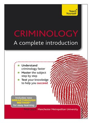 Cover of Criminology - A Complete Introduction