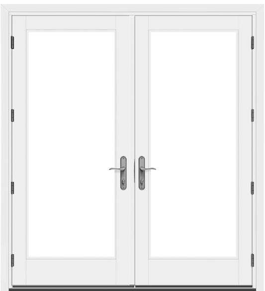 pella architect series traditional hinged patio door