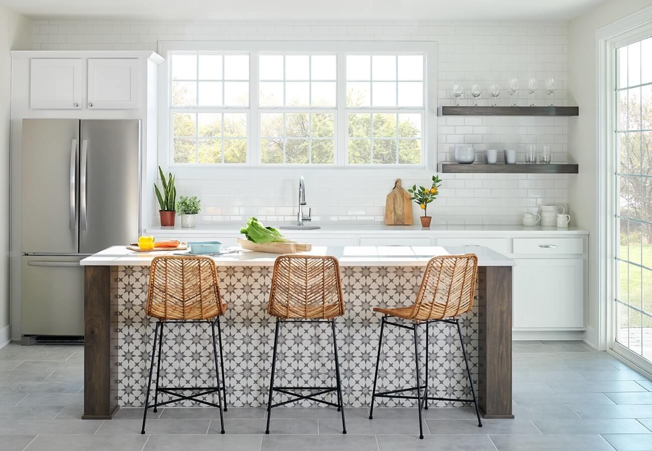 kitchen windows design ideas white and